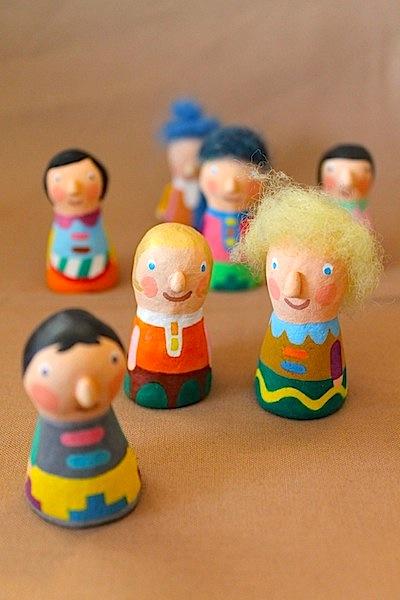 クリスマスの指人形。
