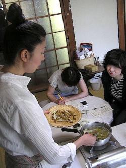 料理教室のようす
