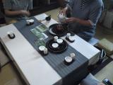 気仙茶とシフォンケーキ