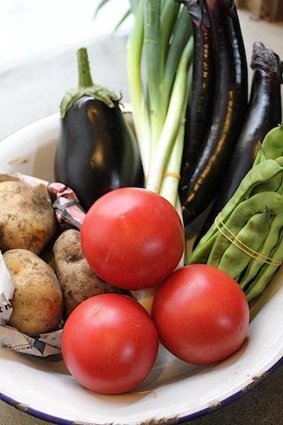 八月のお野菜と手仕事。