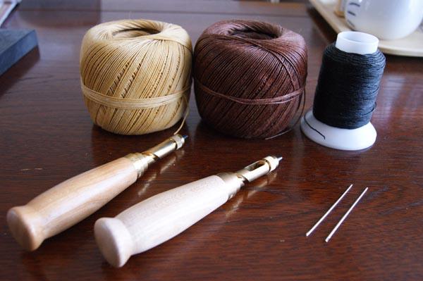 kawa41糸3種とスクリューポンチ